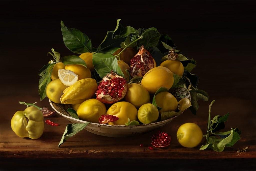 Mostra natura morta avelino de sabbata ave for Cesto di frutta disegno