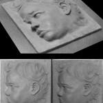 Ritratto di bimba in bassorilievo